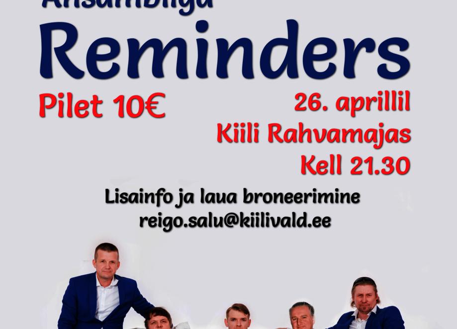 Kevadine tantsuõhtu Remindersiga - Kiili Rahvamaja