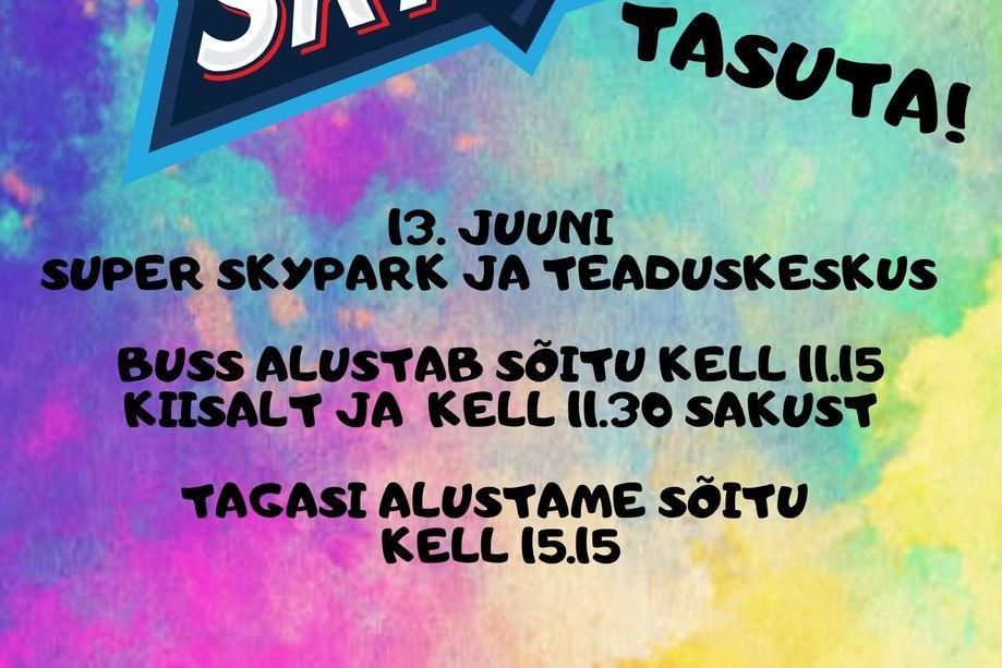 Väljasõit Super Skyparki - Kiisa Noortekeskus