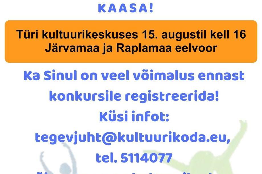 Konkurss-festival Annetekoda 2019 Järvamaa ja Raplamaa eelvoor Türi Kultuurikeskuses - Türi Kultuurikeskus