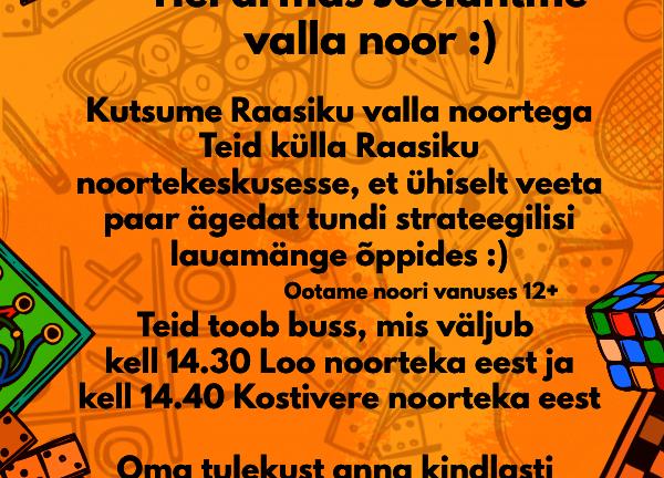 Lauamängude õppimine Raasiku noortekeskuses! - Raasiku