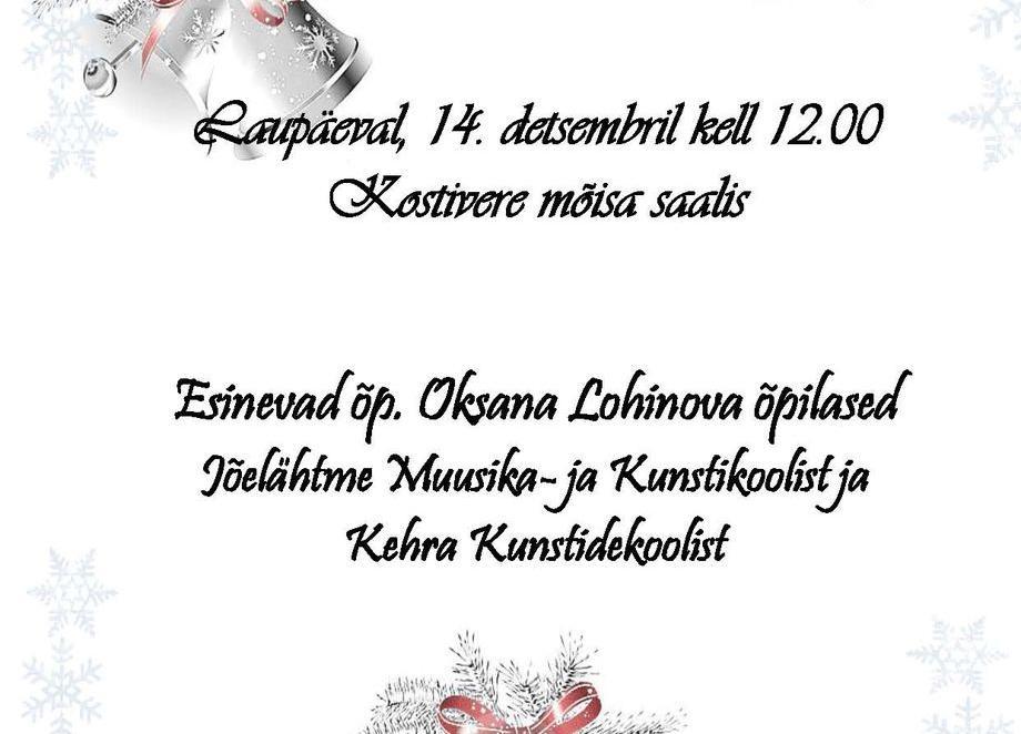 """Kontsert """"Jõulu eel"""" - Kostivere Kultuurimõis"""
