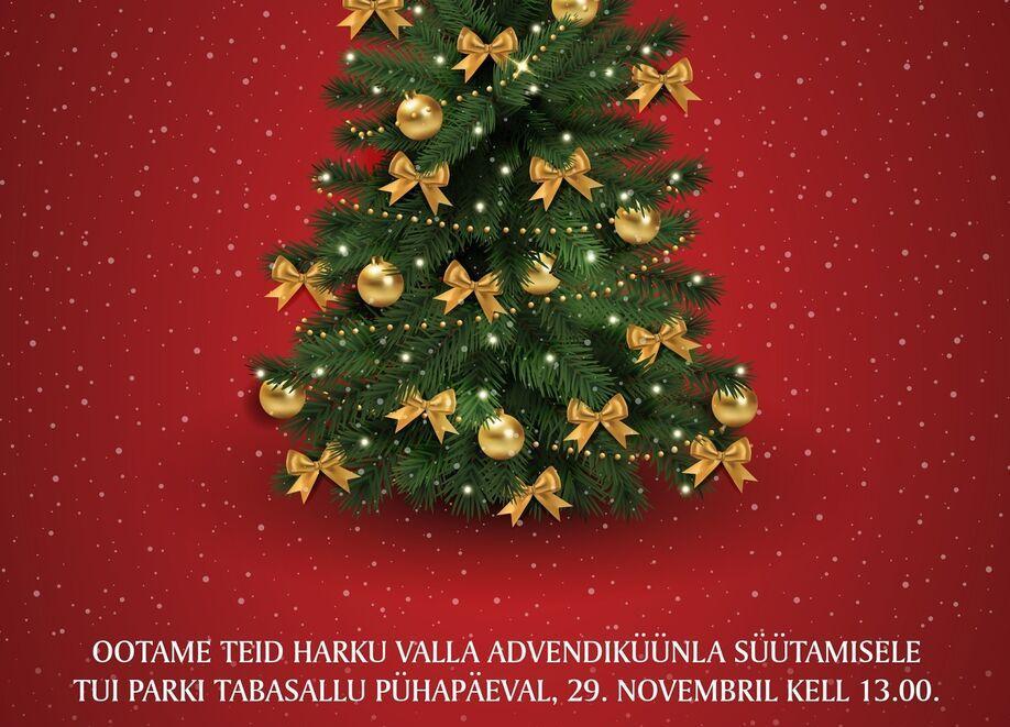 Harku valla advendiküünla süütamine ja jõulurahu väljakuulutamine - Tui Park