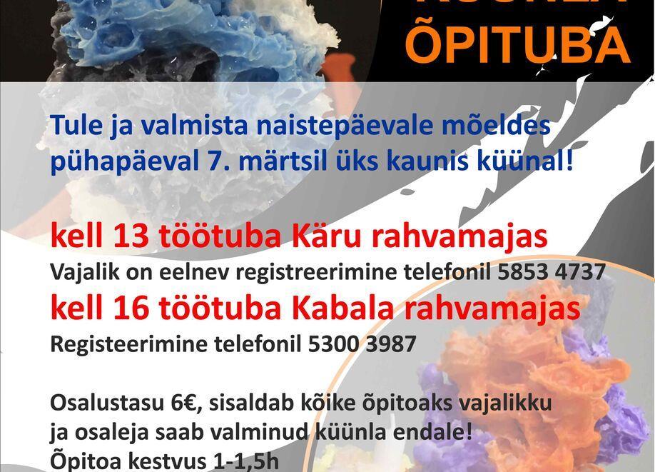LÜKKUB EDASI- Korallküünalde valmistamise õpituba Käru rahvamajas - Käru Rahvamaja