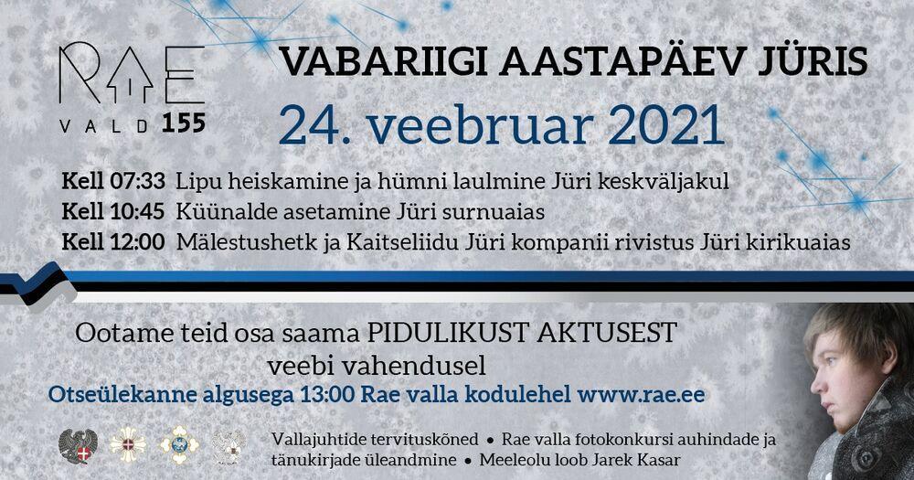 Vabariigi aastapäev Jüris 24. veebruaril - Jüri, Rae vald