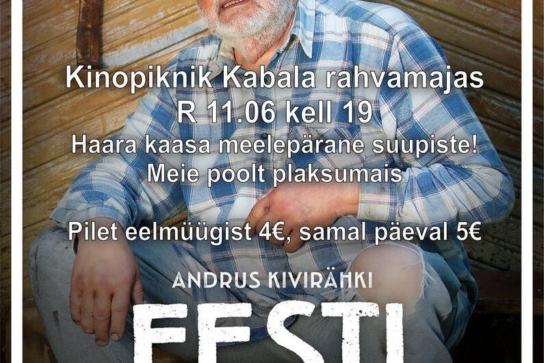 """Kinopiknik Kabala rahvamajas """"Eesti matus"""" EST 2021 - Kabala Rahvamaja"""