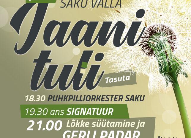 Saku Valla JAANITULI  - Metsanurme Külaplats