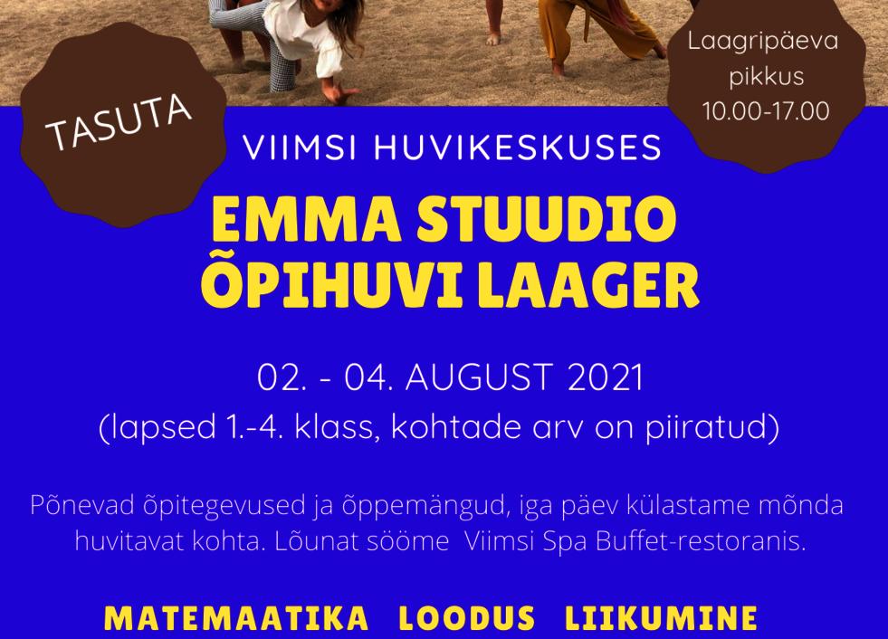 Emma Stuudio õpihuvi laager - Viimsi Huvikeskus