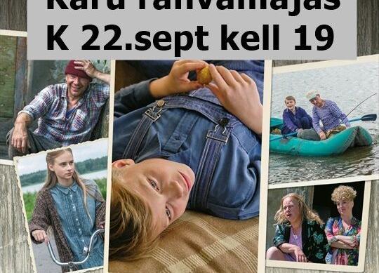 """Kinoõhtu Käru rahvamajas """"Vee peal"""" EST 2020 - Käru Rahvamaja"""