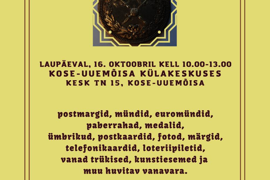 KOSE VALLA KOLLEKTSIONÄÄRIDE KOKKUTULEK - Kose-Uuemõisa Külakeskus